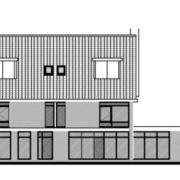 Herontwikkeling van een voormalig bankfiliaal naar drie appartementen voor senioren en starters.
